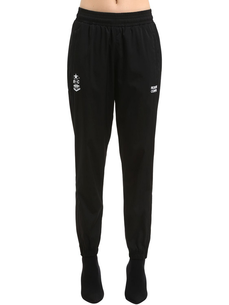 RESORT CORPS Survêtement Save Me Nylon Track Pants in black