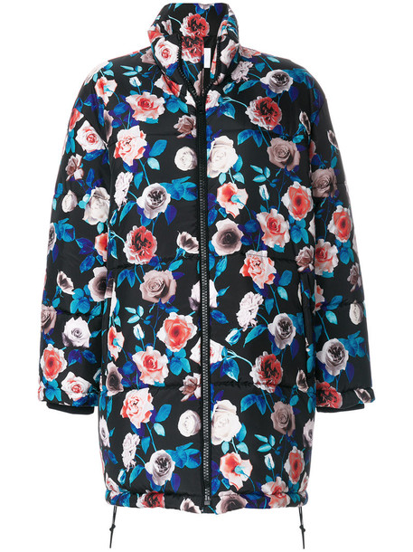 MSGM coat oversized coat oversized women floral black
