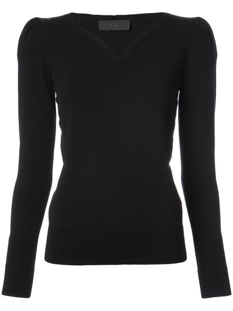 CO top women v neck black