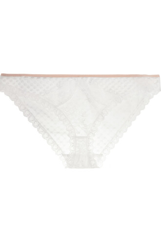 embroidered lace white underwear