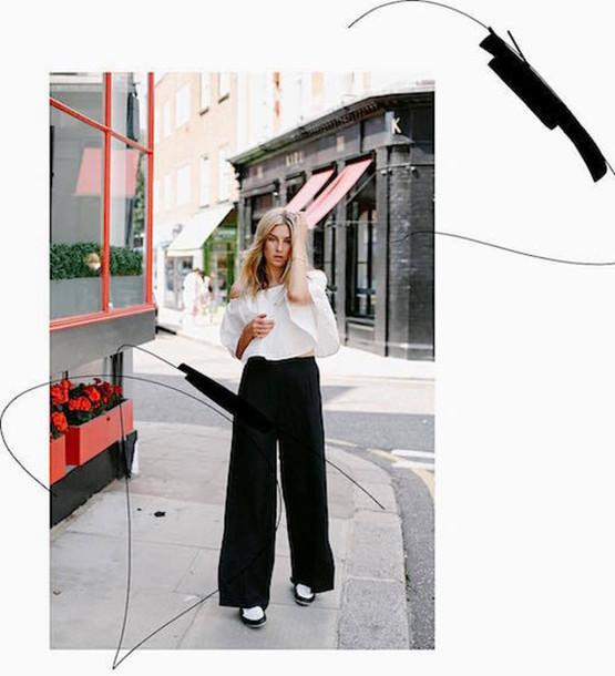 le fashion image blogger top shirt pants
