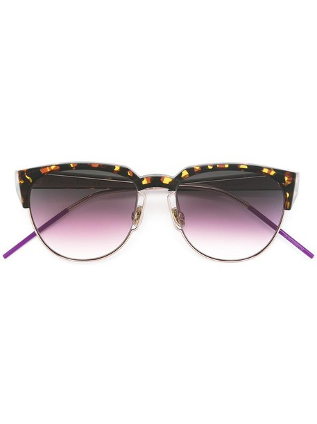 Dior Eyewear metal women sunglasses brown