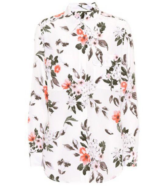 Equipment shirt silk white top