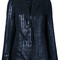 Carven - striped blazer - women - polyester/metallized polyester - 40, black, polyester/metallized polyester