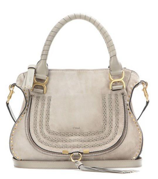 Chloe bag shoulder bag suede grey