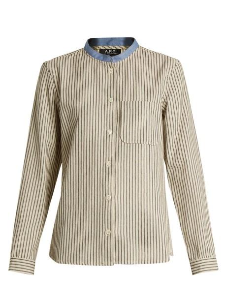 A.P.C. shirt cotton white top