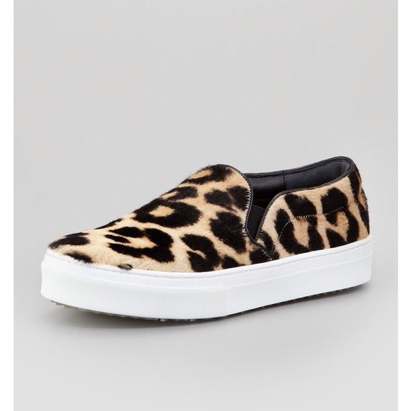 shoes vans leopard print