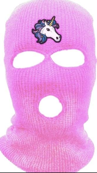 hat spring break pink skimask bataclava