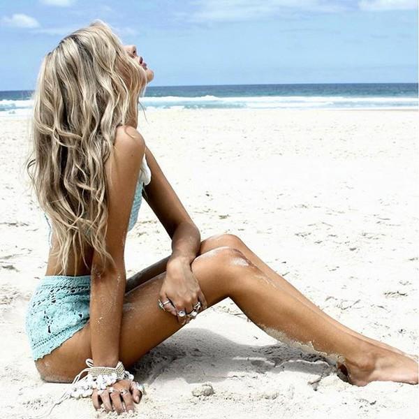 swimwear gypsy mermaid shorts crochet crochet swimwear crochet shorts blue shorts blue swimwear blue blue bikini crochet bikini bikini boho summer outfits beach beach shorts boho chic chic boho beach boho bikini