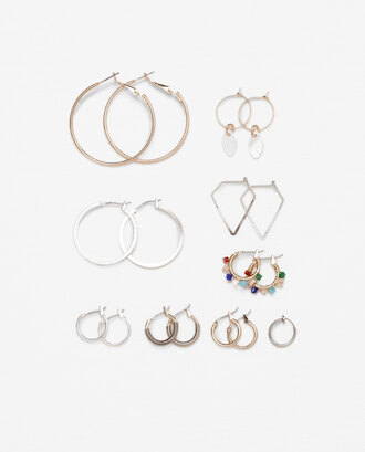 jewels hoop earrings set gold silver accessories