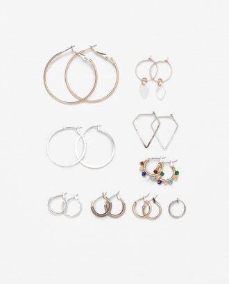 jewels hoop earrings set gold silver accessories