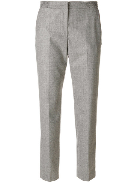 MSGM women spandex wool grey pants
