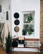 home accessory,blanket,bench,hat,macrame,wall decor,plants,hipster,home furniture