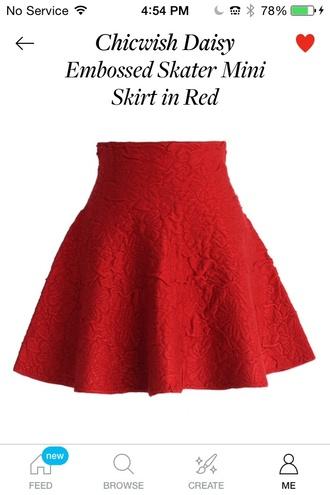 skirt chic croc embossed mini skirt red dress style