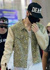 jacket,celebrity,jacket quilted,zipper jacket