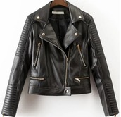 jacket,leather,leather jacket,zip,biker jacket,black