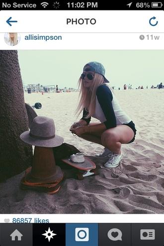 make-up alli simpson hair beautiful jewels beach style longboard camera shoes sunglasses california girl beauty