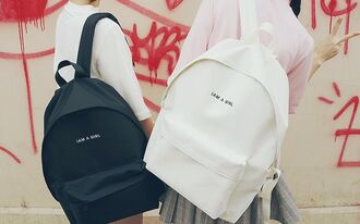 bag kozy black white black and white school bag school girl yin yang kawaii pastel indie swag kawaii grunge bff bff shirts girl