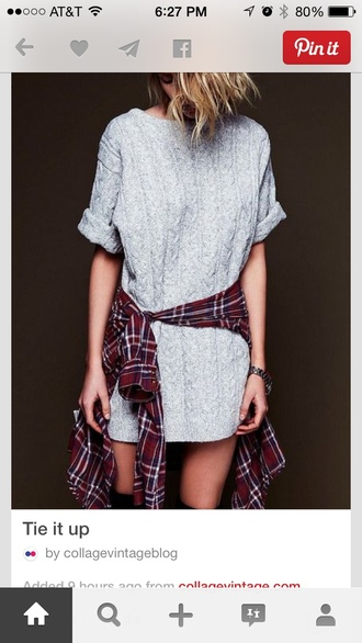 grey dress white dress grunge sweater style sweatshirt