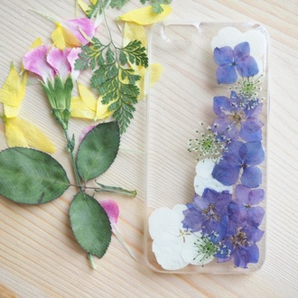 phone cover summer summer handcraft flowers pressed flowers handmade unique gift funny phonecase cell phone iphone cover iphone case gift ideas girlfirend gift