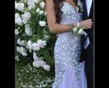 Luxury mermaid spaghetti strap diamonds chiffon lavender prom dress/evening gown