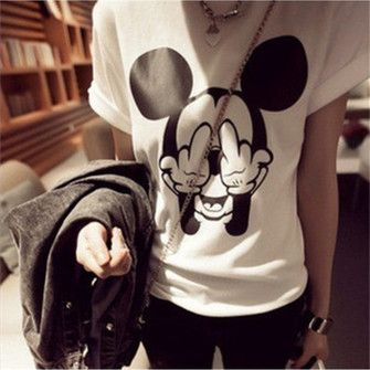 middle finger mickey mouse teenagers the middle