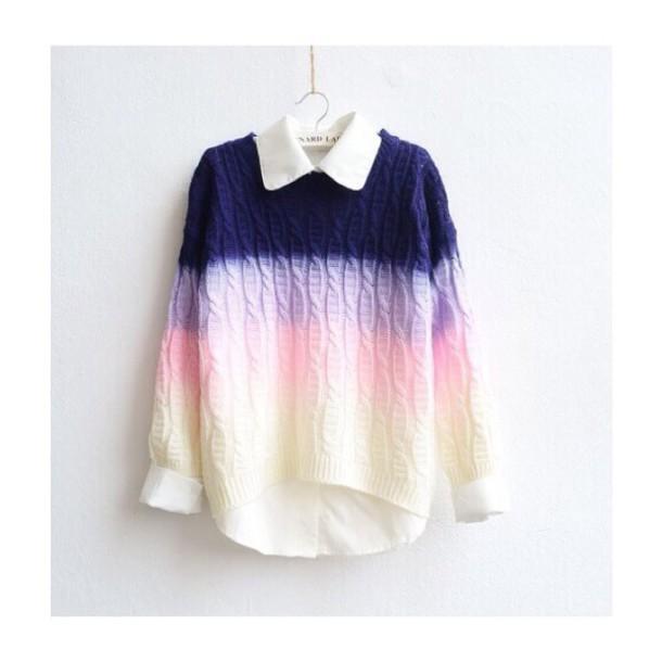 Fashion hot gradient sweater