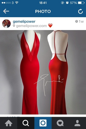 dress red dress v neck dress ball gown dress prom dress backless dress mesh dress figure hugging