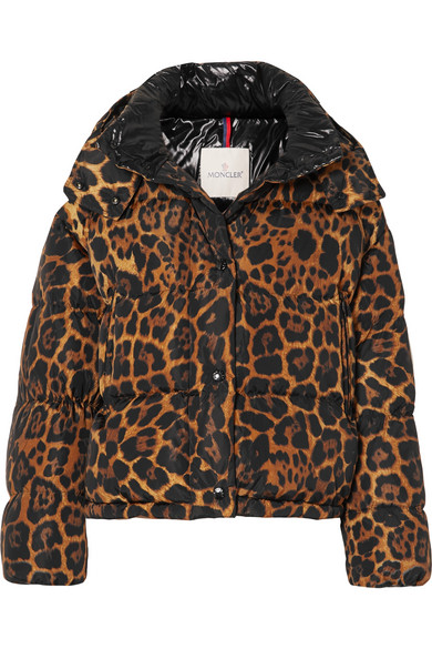 Moncler - Leopard-print quilted shell down jacket
