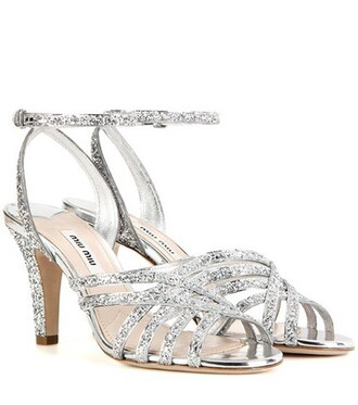 glitter sandals silver shoes