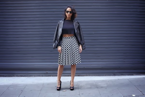 style in lima jacket t-shirt skirt shoes sunglasses