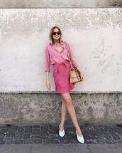 shirt,skirt,pink,pink shirt,short shirt,shoes,abg,bag,sunglasses