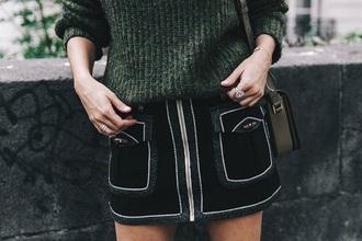 skirt black black skirt zip zipped skirt classy cute style