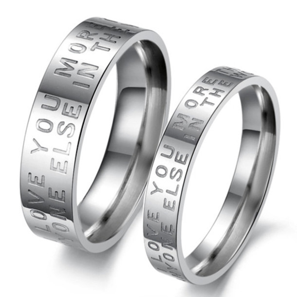 Jewels Gullei.com Engraved Couples Rings Men And Women Rings Rings Set For  2 His