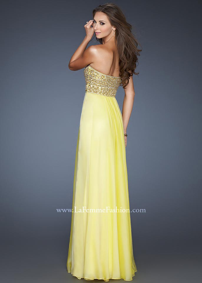 Beaded Patterned Top Evening Gown by LF 18739 [Beaded Top Evening Dress LF 18739] - $165.00 : Fashion Cheap Homecoming Dresses for Girls at homecomingdressesfashion.com