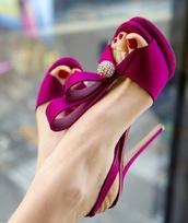 shoes,high heels,pink,fuchsia,heels,pink heels,mageta shoes,pink shoes,prom shoes,pretty,purple high heels,purple heels,purple,purple shoes,designer,designer heels,purple designer heels,fuchsia pink heels