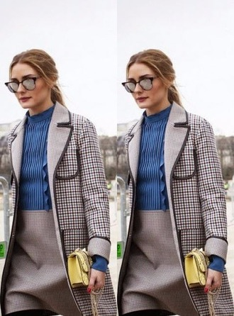 bag purse olivia palermo coat dress