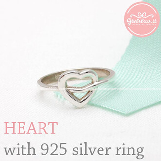 tiffany ring jewels heart heart ring anniversary ring valentines day gift for her lovely simple