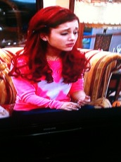 sweater,ariana grande,pink,neon,butterfly,cute,pretty,red hair
