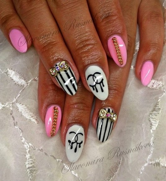 nail polish chanel nails pink nails art