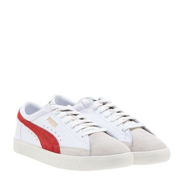 puma sneakers lace white red shoes