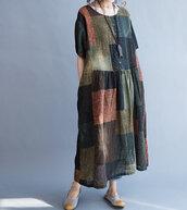 dress,maxi dress,loose fitting dress