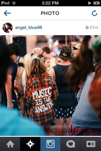 jacket plaid red music music festivals grunge soft grunge hipster cool