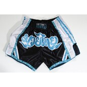 shorts,classic aqua and navy retro muay thai shorts – muay thai addict,retro thai shorts,aqua muay thai shorts,retro muay thai shorts,protector muay thai shorts - platinum