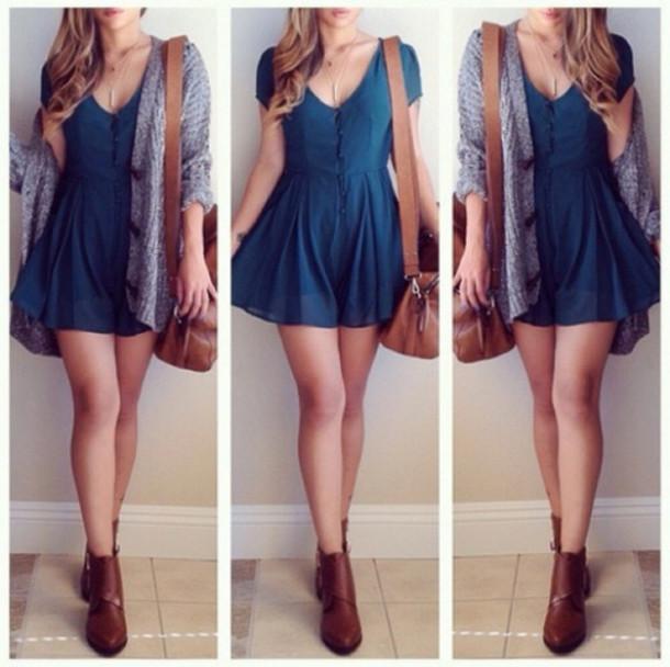 dress blue dress skater dress