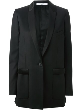 blazer long black jacket
