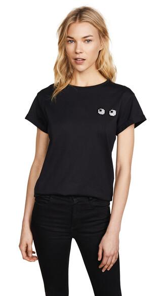 t-shirt shirt eyes black top