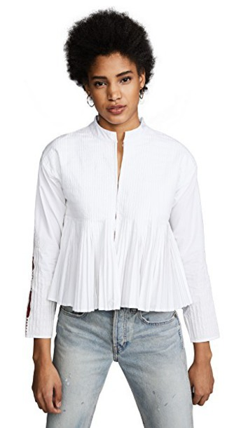 MES DEMOISELLES blouse white top