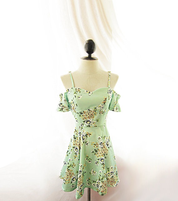Seafoam Blue Minty Green Mint Daisy Floral Off by RiverOfRomansk
