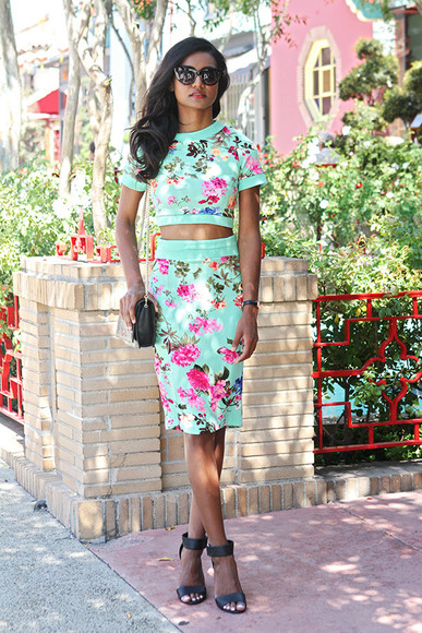 tuolomee top skirt shoes sunglasses bag blogger